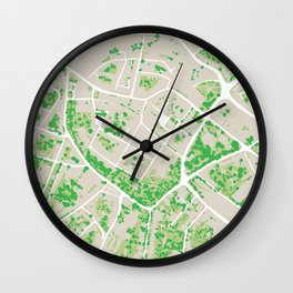Trees Of Opava Wall Clock