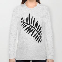 BLACK PALM LEAF Long Sleeve T-shirt