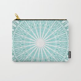 Mint Mandala Carry-All Pouch