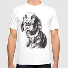 Charlie MEDIUM White Mens Fitted Tee