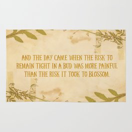 Autumn Anais Nin Quote Rug