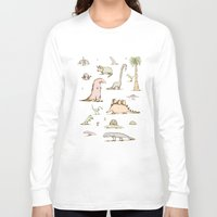 dinosaurs Long Sleeve T-shirts featuring Dinosaurs by Sophie Corrigan