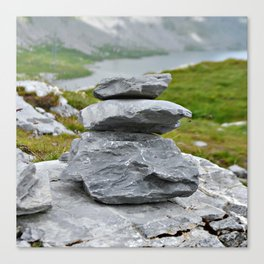 Zen stones in the mountains Canvas Print