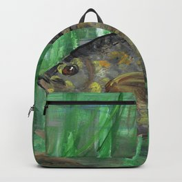Black Crappie Fish in River Water Backpack