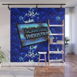 Slam 1 Industries Blue Crack Wall Mural