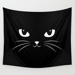 Cute Black Cat Wall Tapestry