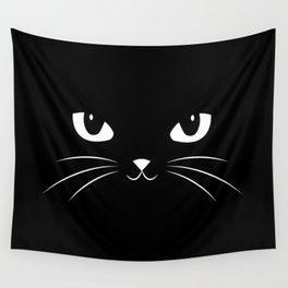 Cute Black Cat Wall Tapestry