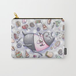 Junk Food Coma Kitty Carry-All Pouch