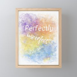 Perfectly Imperfect - Wabi-Sabi (white, blue, orange, yellow, purple) Framed Mini Art Print