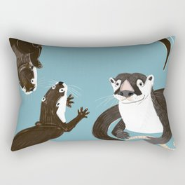 Asiatic and African clawless otter Rectangular Pillow