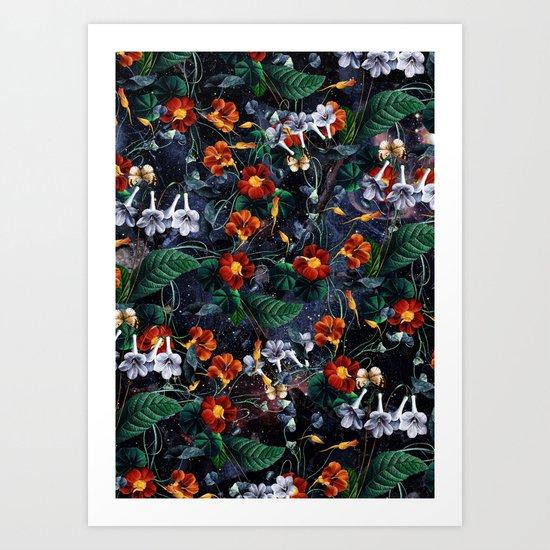 Nasturtium Night Art Print