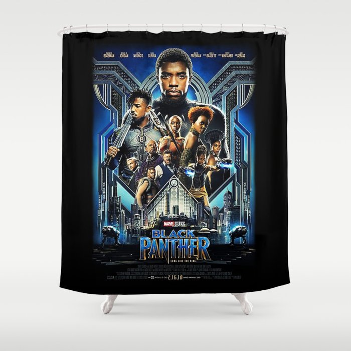 Black Panther Movie Poster Shower Curtain