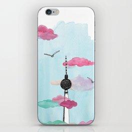 Berlin TV Tower - Yves Kervoelen - Soft watercolored view iPhone Skin