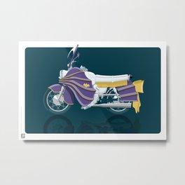 Batgirl's bike Metal Print