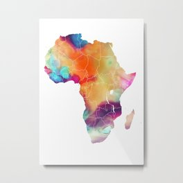 Africa Map 3 Metal Print