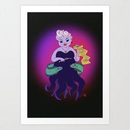 Ursula and her loyal Pets Art Print