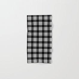 MacFarlane Black + White Tartan Modern Hand & Bath Towel