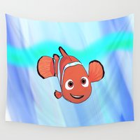 nemo Wall Tapestries featuring Nemo by paulusjart