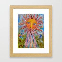 Miss Sunshine - Whimsies of Light Children Series Framed Art Print