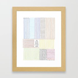 The Entire History of Planet Earth – vertical variation Framed Art Print