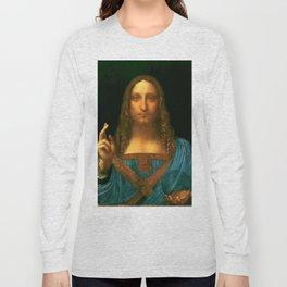"Leonardo da Vinci ""Salvator Mundi"" Long Sleeve T-shirt"