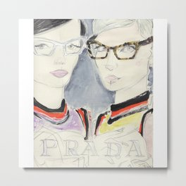 fashion illustration / eyewear Metal Print