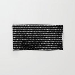 barbed wire stripe - black Hand & Bath Towel