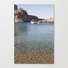 Boats and sea Canvas Print