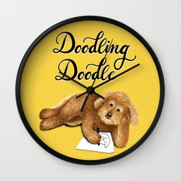 Doodling Doodle (Yellow) Wall Clock
