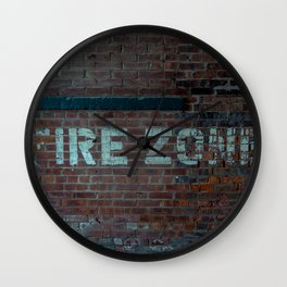 The (F) Ire Zone Wall Clock