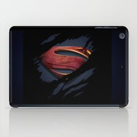 man of steel iPad Cases featuring Man of Steel by Enk Shahbaz Mehdi