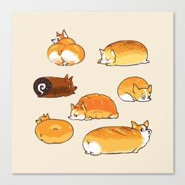 Bread Corgis Canvas Print