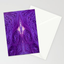 Purple Coils Stationery Cards