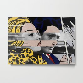 "Roy Lichtenstein's ""In the car"" & Marcello Mastroianni with Anita Ekberg in La Dolce Vita Metal Print"