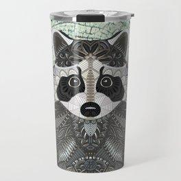 Ornate Raccoon Travel Mug