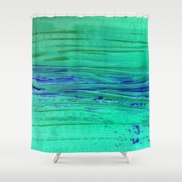Blue Brane rivers Shower Curtain