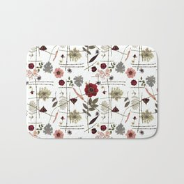 Red Anemones and Roses Bath Mat