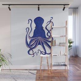 Octopus Blue Wall Mural