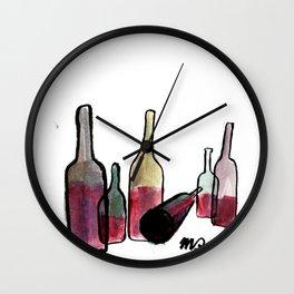 Wine Bottles 3 Wall Clock