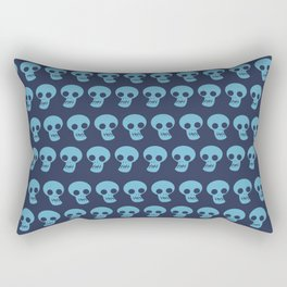 the Skull in lines hand drawn illustration pattern Rectangular Pillow