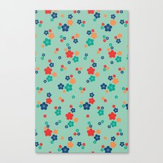 blossom ditsy in grayed jade Canvas Print
