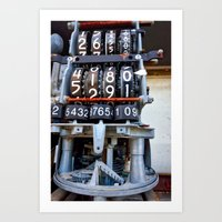 numbers Art Prints featuring Numbers by Kent Moody