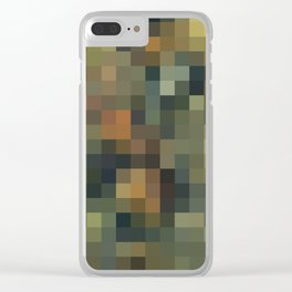 ROCK AND WATER MOSAIC Clear iPhone Case