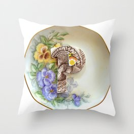 Love Letters to Dinnerware - P Throw Pillow