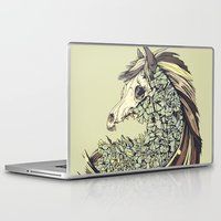 horse Laptop & iPad Skins featuring Beautiful Horse Old by Diego Verhagen