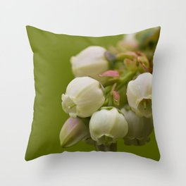 Sweet Blue Cluster Throw Pillow