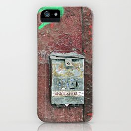Grungy Mailbox iPhone Case