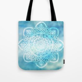 Mandala Blue Cloudy Sky Tote Bag