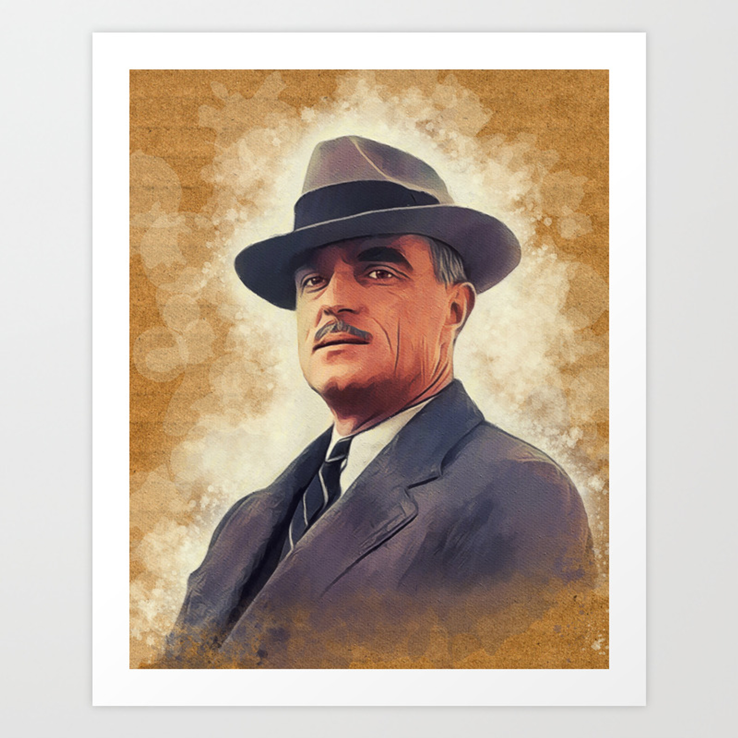 John Wilder Literary Legend Art Print By Serpentfilms Society6