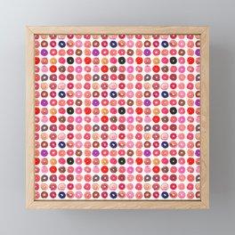 Lipstick Donuts Framed Mini Art Print
